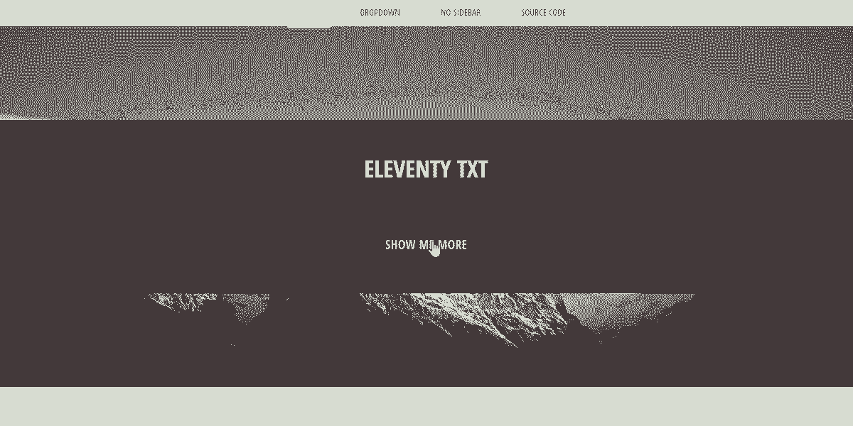 Static Site  Eleventy TXT - Static Site prototyped in Eleventy SSG.